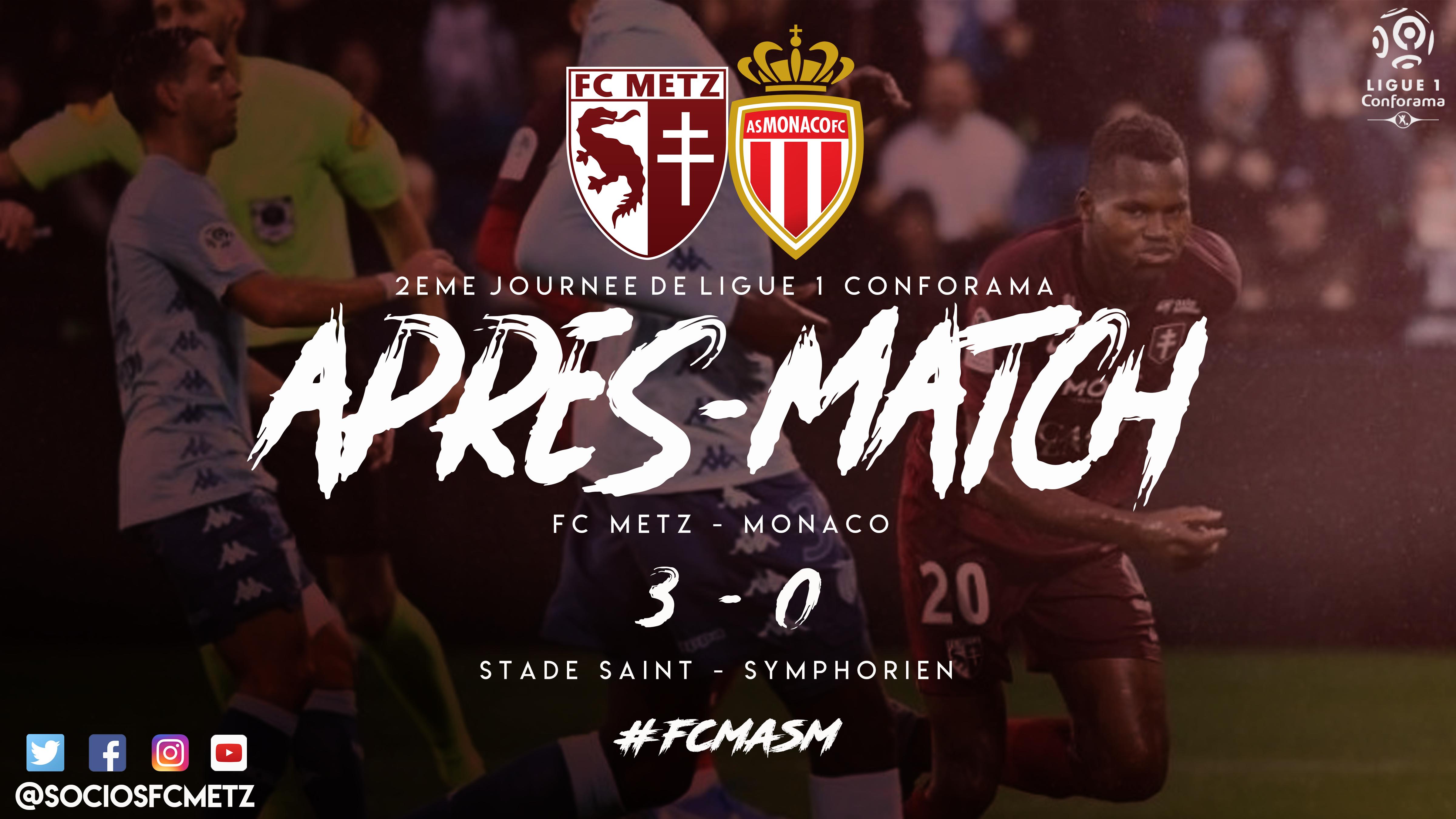 Apres match FC Metz Monaco